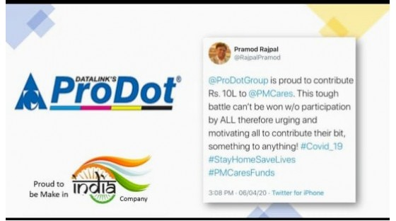 prodot contributes one million to pm cares fund