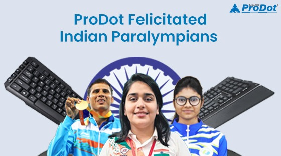 prodot felicitated indian paralympians